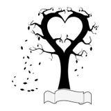 Дерево сердец Стоковая Фотография