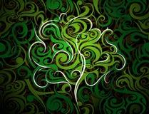 Дерево с флористическими свирлями Стоковое Изображение