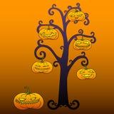 Дерево хеллоуина Стоковое Фото