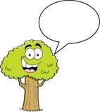 Дерево шаржа с воздушным шаром титра Стоковая Фотография