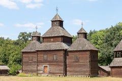 Деревянная античная православная церков церковь Киев, Украин Стоковые Изображения