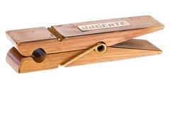Деревянная зажимка для белья Стоковое Фото