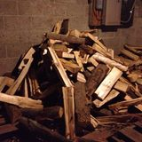 Деревянная куча Стоковые Изображения RF