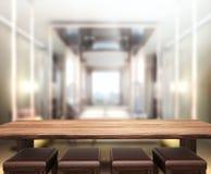 Деревянная предпосылка столешницы в спальне Стоковые Фото