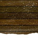 Деревянная предпосылка текстуры в снеге Стоковые Фотографии RF