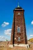 Деревянная сторожевая башня, XIX век n Sinyachikha Стоковая Фотография