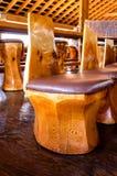 Деревянная табуретка Стоковое Изображение RF