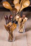 Деревянная утварь кухни Стоковое Изображение
