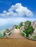 деревянное парка моста сценарное Стоковая Фотография RF