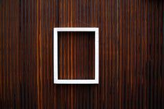 деревянное рамки белое Стоковые Фотографии RF
