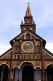 деревянное kontum церков старое Стоковое Изображение