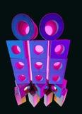 Деревянные блоки игрушки в покрашенном свете Стоковые Изображения