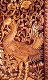 Деревянные высекаенные двери Стоковое Фото
