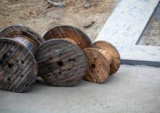 Деревянные катушки Стоковое Изображение RF