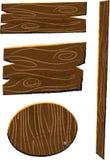 Деревянные панели и иллюстрация детей знамен Стоковая Фотография