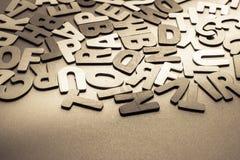 Деревянные письма Стоковые Фотографии RF