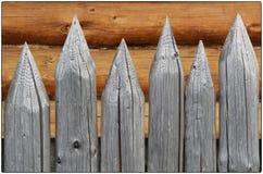 Деревянные серые стробы Стоковая Фотография RF