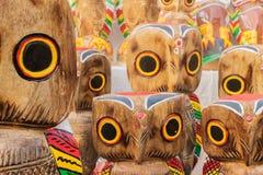 Деревянные сычи, индийские ремесленничества справедливые на Kolkata Стоковая Фотография RF