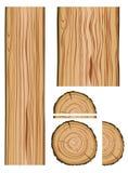 Деревянные текстура и части Стоковое Изображение