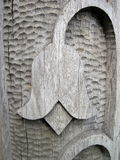Деревянный высекать, флористические орнаменты Стоковое Изображение RF