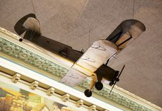 Деревянный модельный самолет на дисплее в музее хлопка Мемфиса Стоковое Изображение RF