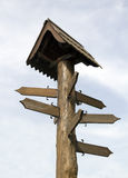 Деревянный направляющий указатель Стоковое Изображение