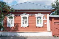 Деревянный дом kolomna kremlin Россия Стоковая Фотография RF