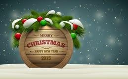 Деревянный шильдик рождества Стоковое Изображение