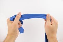 Держать голубую связь Стоковое фото RF