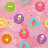 десерты предпосылки безшовные Стоковое Фото