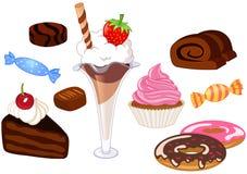 десерты Стоковые Изображения RF