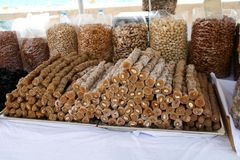 десерт Кипра традиционный Стоковое Изображение
