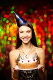 Десерт дня рождения Стоковая Фотография RF