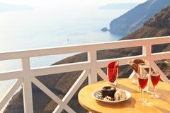 Десерт с видом на море Стоковые Фотографии RF