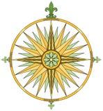 детализированный компас Стоковое Изображение RF