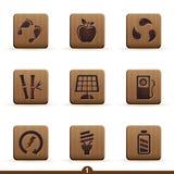 детальные иконы экологичности Стоковые Фотографии RF