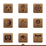 детальные иконы экологичности Стоковое Фото
