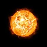 Детальное солнце в космосе Стоковое Изображение RF