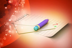 Детальные конверт и карандаш Стоковое Фото