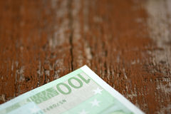 Деталь банкнот денег евро Стоковые Фотографии RF