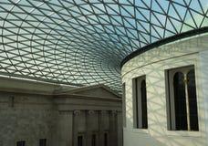 Деталь великобританского музея и крыши Стоковые Фото