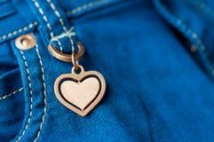 Деталь джинсов Стоковая Фотография