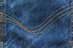 Деталь джинсов Стоковое Изображение