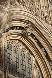 Деталь на фасаде парламента Великобритании, Вестминстере; Лондон, Стоковое Изображение