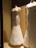 Деталь платья свадеб Стоковые Изображения