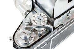 Деталь ретро старой винтажной сетноой-аналогов камеры фото Стоковые Фото