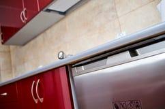 Деталь countertop кухни Стоковое Фото