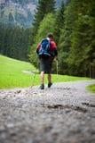 детеныши активного красивого nordic человека гуляя Стоковые Изображения