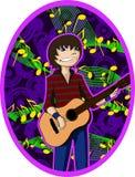 детеныши гитариста Стоковые Фотографии RF