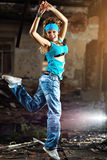 детеныши женщины танцы Стоковая Фотография RF